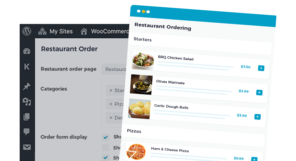 WooCommerce Restaurant Ordering CTA