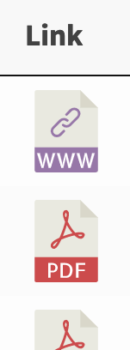 Link style file type icon