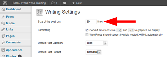 WordPress web design expand content box