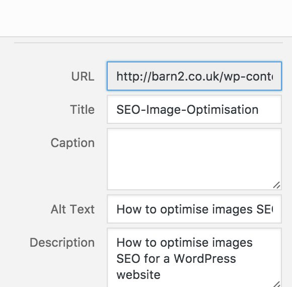 WordPress optimise for image search SEO