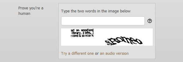 WordPress web design CAPTCHA gone wrong