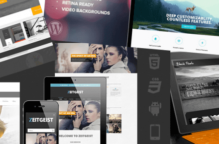 Black responsive WordPress themes