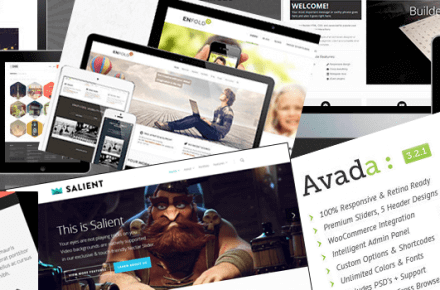 Selection of clean modern responsive WordPress themes from 2014