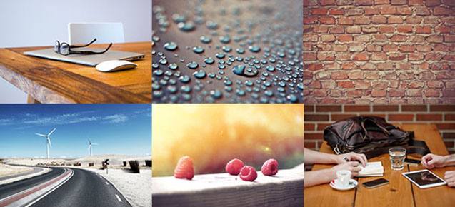 Screenshot of free images available for WordPress websites