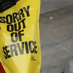 'Out of service' image to illustrate article about WordPress website down