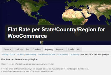 WooCommerce shipping rates