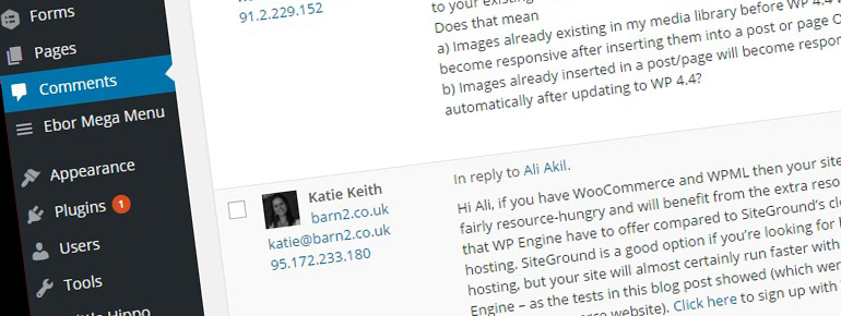 How to collect ip addresses from WordPress comments