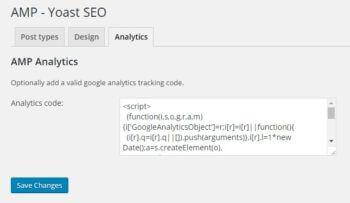 AMP Analytics Tracking Code
