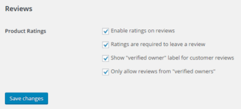 Show Verified Owner label for customer reviews