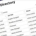 WordPress posts table