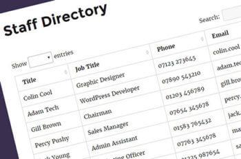 WordPress posts table with custom post types
