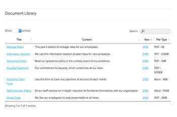 WordPress document library tutorial