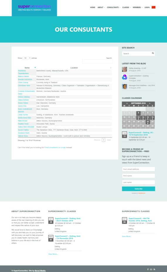 WordPress consultant directory website