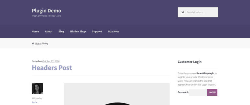 WooCommerce hidden store and hidden products