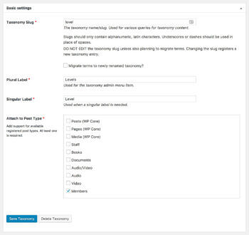 Add Taxonomy WordPress Plugin