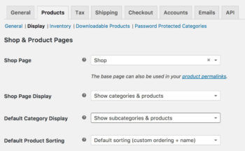 How to show sub categories in WooCommerce