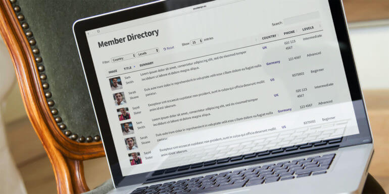 WordPress Member Directory Plugin with Profile