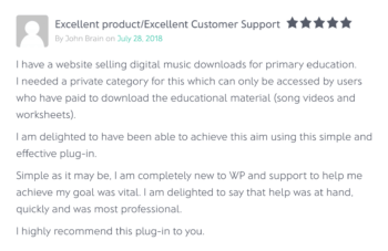 Easy Digital Download Protect Categories Plugin Review
