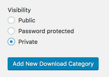 Private Easy Digital Downloads Category Plugin