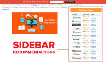 WordPress review affiliate plugin sidebar