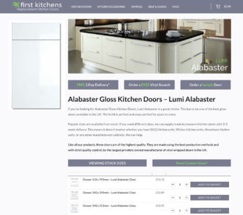 WooCommerce kitchen website