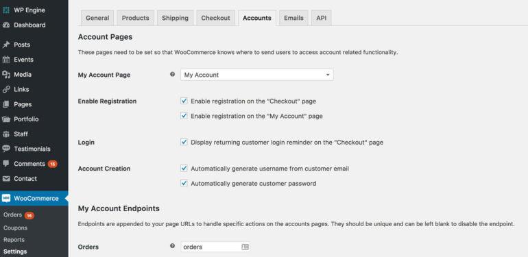 WooCommerce prevent user account creation