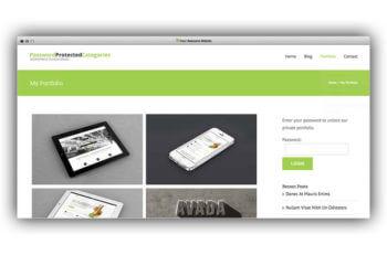 WordPress private portfolio plugin
