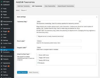 How to create WooCommerce custom taxonomy