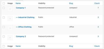 WooCommerce customer categories