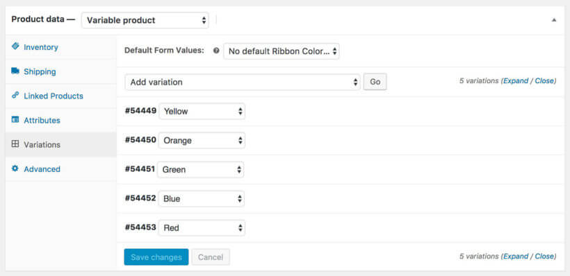 Build Your Own Product Website with Variations