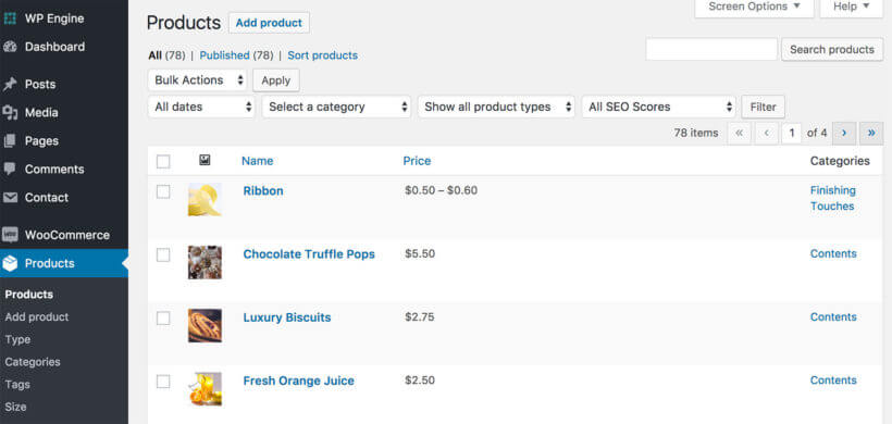 WooCommerce Build Your Own Products List