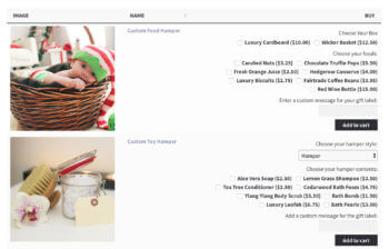 WooCommerce build your own product addons