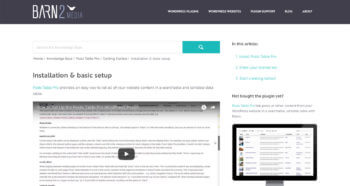WordPress knowledge base plugin article - front end