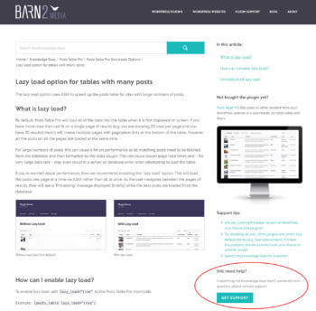 WordPress knowledge base support request