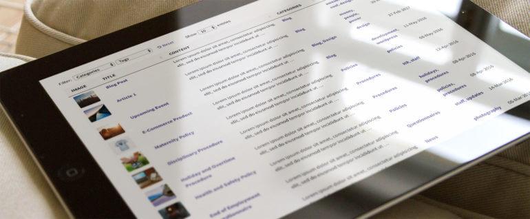 WordPress table knowledge base plugin