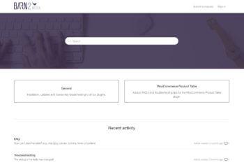 Zendesk help center homepage