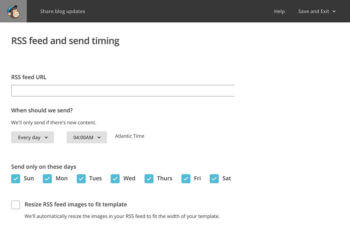 MailChimp Create RSS Email