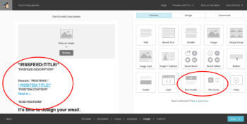 MailChimp RSS WordPress blog posts