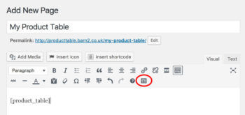 Product Table Toolbar Button Icon