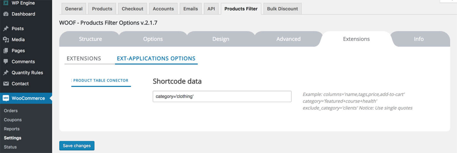 Create a WooCommerce Product Table with Quick Filter Widgets