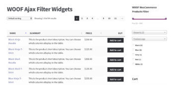WooCommerce AJAX Filter Widgets Product Table Plugin