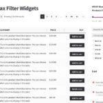 WooCommerce Ajax Filter Widgets Plugin