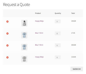 WooCommerce Request a Quote Plugin