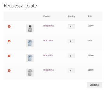 WooCommerce Request a Quote Plugin