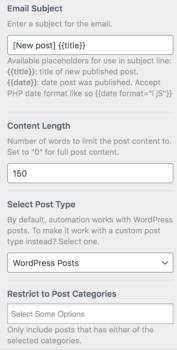 MailOptin plugin settings