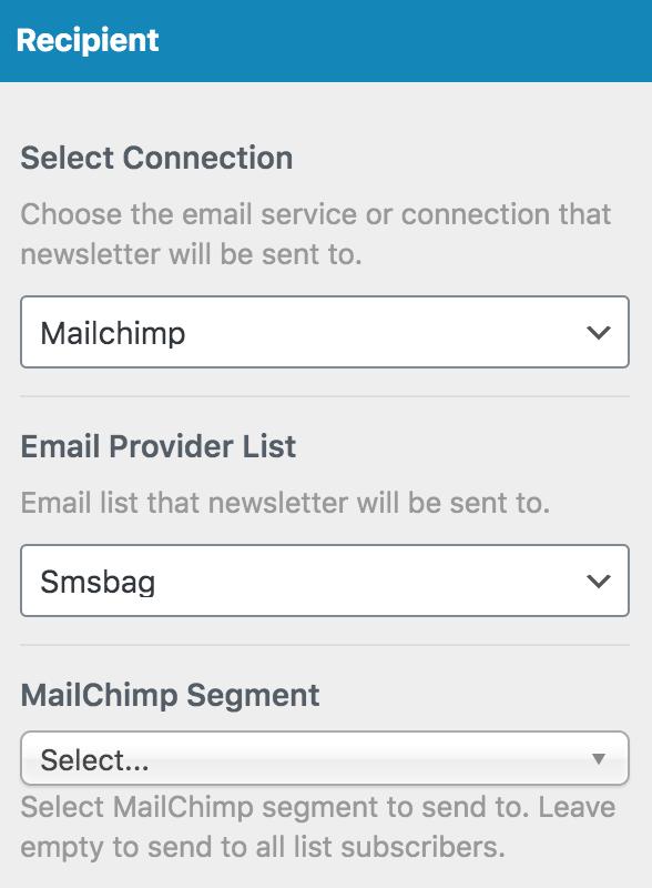 MailOptin select recipient