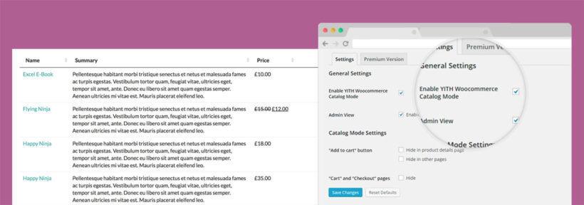 WooCommerce Product Table Catalog Mode