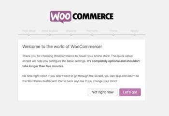 Setup WooCommerce