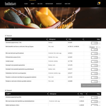 WooCommerce Food Catering Website
