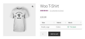 WooCommerce custom fields taxonomies single product page